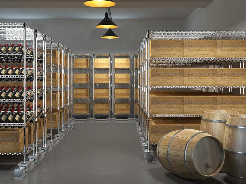 美之高专业定制系统(DIY系统),可根据客户需求或实际仓储场景,如搭积木般自由搭配组合使用,能适用于不同大小的仓储空间