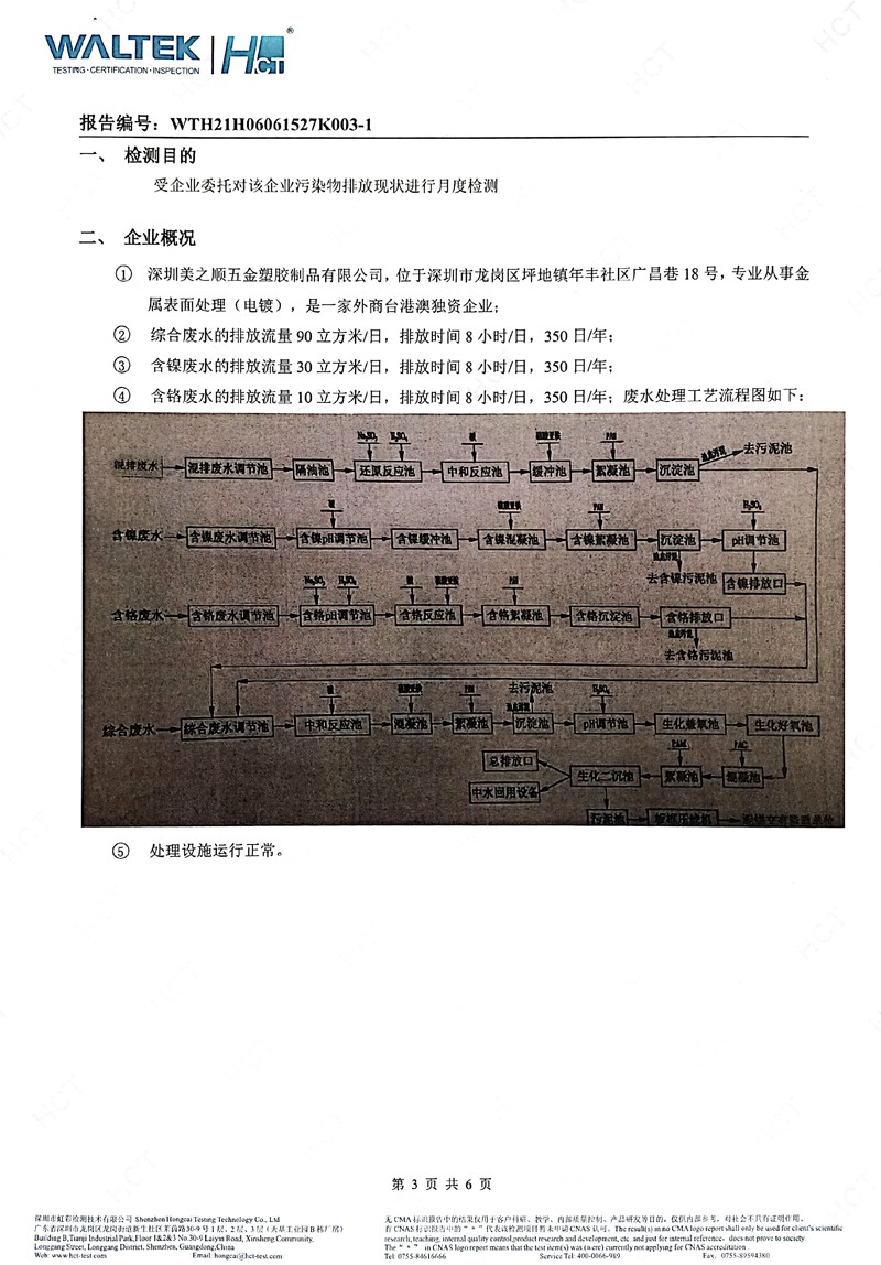 深圳美之顺五金塑胶制品有限公司2021年09月份工业废水检测报告3